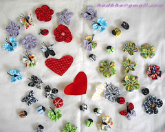 Fuxico Mania (Minhas Crias) Tags: handmade flor artesanato borboleta fuxico joaninha retalho trabalhosmanuais coraçãotecido
