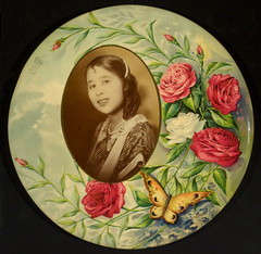 Woman of Asian decent (George Eastman House) Tags: 1920s portrait woman asian descent medallion oval georgeeastmanhouse geh:maker=unidentifiedphotographer geh:accession=200805030008 geh:medium=gelatinsilverprintpoptonedandchromolithographmountedoncelluloidmedallion
