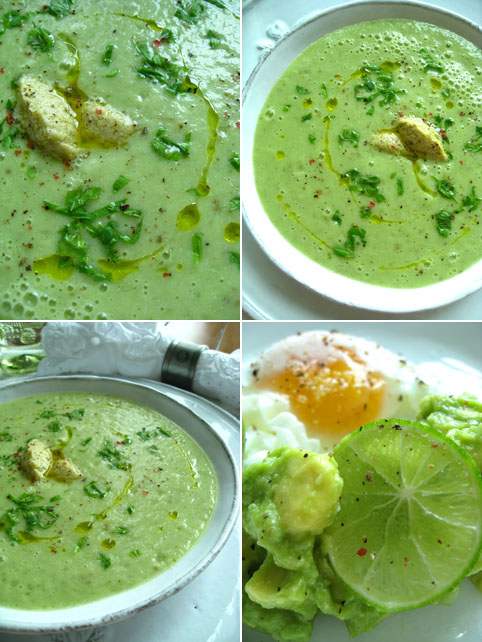 cream of celery-avocado-banana soup