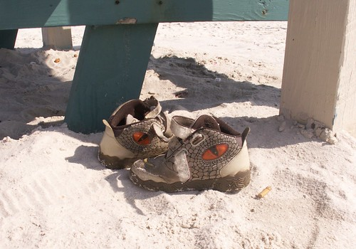 Sneakers at Fort Island Gulf Beach