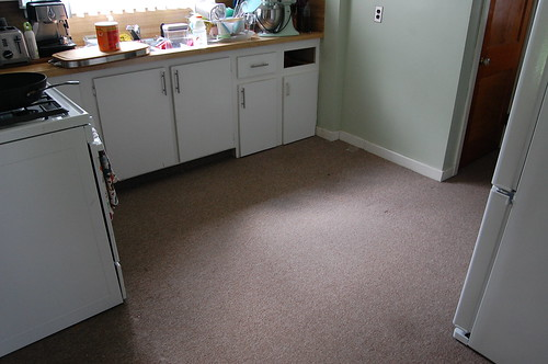 Neverhomemaker Our Tiny Carpeted Kitchen