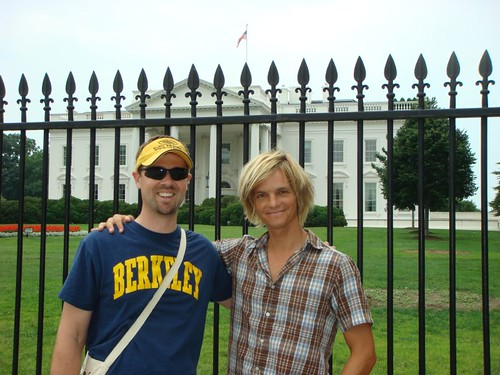 Mike and I in front of the White House...