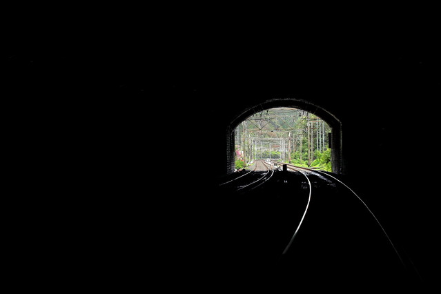 a walk, along the tracks, through the tunnels...