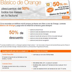 Tarifa plana básico de Orange