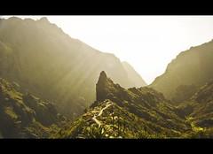 Masca the forgoten Village.   Tenerife, Spain (N) Tags: sunlight mountains spain valle espana valley tenerife canaryislands sunray montanas islascanarias rayosdesol masca luzdesol lpmorning n noeliamagnusson wwwnoeliamagnussoncomnnoemagnusson nmagnusson