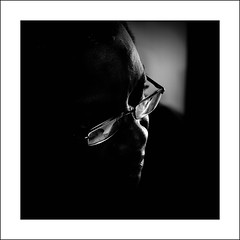 Coming out of the dark (Thibaut Lafaye) Tags: portrait black dark noir sombre portraiture homme obscure 500x500 superaplus artlibres theunforgettablepictures platinumheartaward winner500 bwart0108092059cet