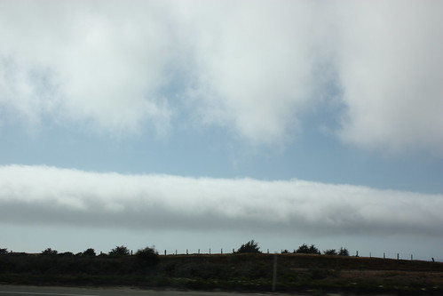 Interesting cloud formation in California