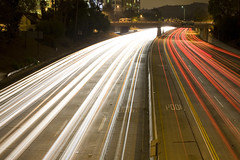 She Found it Hard to Say Goodbye to Her Own Best Friend (Thomas Hawk) Tags: california usa night losangeles unitedstates 10 unitedstatesofamerica overpass headlights fav20 freeway burbank southerncalifornia streaming 134 tailights fav10 fav25 superfave