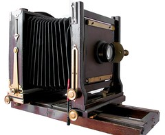 Agfa Ansco Universal View Camera ([ irina mashurova ]) Tags: camera wood film view 4x5 universal agfa mahogany ansco 1903 5x7 lomb tessar bausch 45300mm 19261935