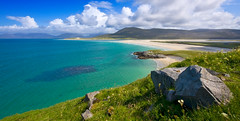 Luskentyre (Spencer Bowman) Tags: colour beach water landscape island coast scotland turquoise sweep isles luskentyre isleofharris seilebost luskintyre soundoftaransay coastuk welcomeuk