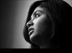 Dream ..! [ Explored ] (Gaurav_Patil) Tags: portrait people bw girl hair eyes candid indian blacknwhite gaze pune distant 30d canon55250 urbancolumbus tadka09wk34