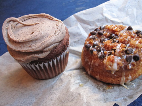 Mocha Cupcake and Carmel Crunch Doughnut
