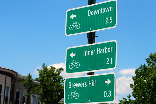 Wayfinding Signs for Bikes