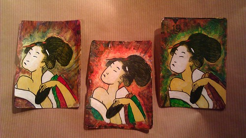 Geisha ATC set of 3 by ArtHarpy