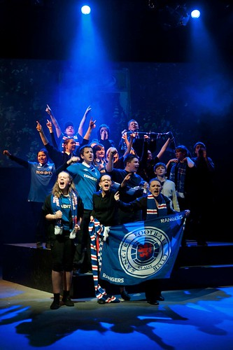 Football scene, Rangers fans