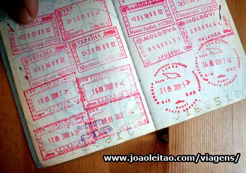 Carimbos da Geórgia no passaporte