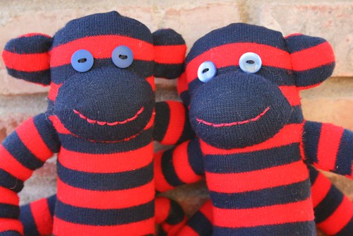 two monkeys for operation sock monkey