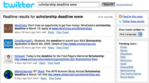 scholarship deadline www - Twitter Search