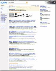 Screen shot of Kumo Search
