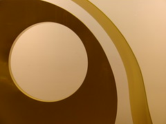 Circle (Jovial107) Tags: city brown abstract art yellow night oregon circle hotel design pdx suites nines porland bramlett