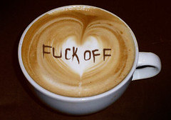 Latte Art: Fuck Off