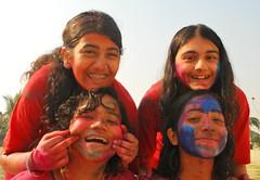 color portraits (shubhangi athalye) Tags: girls india colors festival kids festive fun play indian bombay maharashtra mumbai holi rang rangpanchami