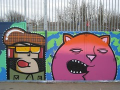 Killing Dregs (mr_la_rue) Tags: street uk urban art graffiti characters aerosol 2009 gainsborough thoup mildlands