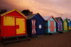 A little splash of colour (Sysy *) Tags: summer january australia victoria huts brightonbeach january2009