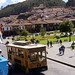 114djtrolley in cusco square - will be activity during excursion to cusco