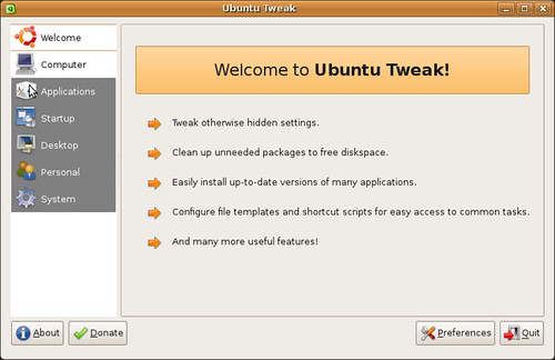 Screenshot-Ubuntu Tweak