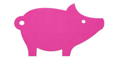 hey sign pig felt rug