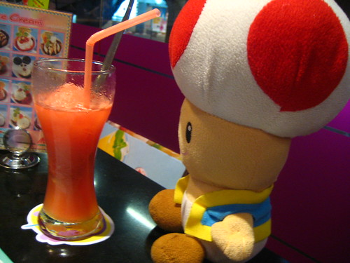 Toad and watermelon shake