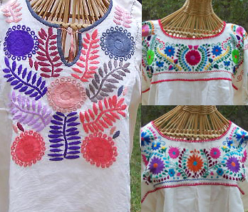 embroidered cotton mexican blouses