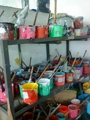 pots & paints (blossom&bloom) Tags: hongkong multicoloured pots printers