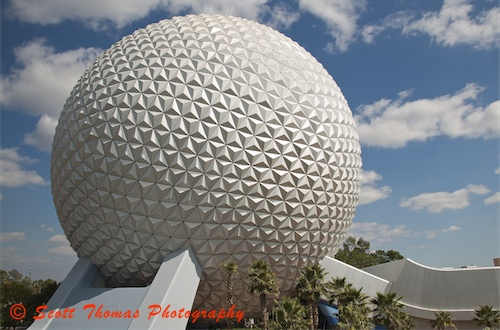 Spaceship Earth from the Monorail