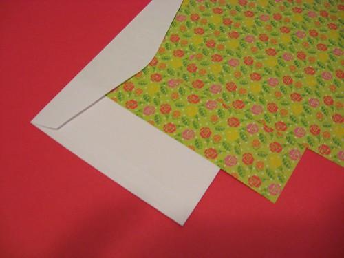 Envelope e cartão de páscoa