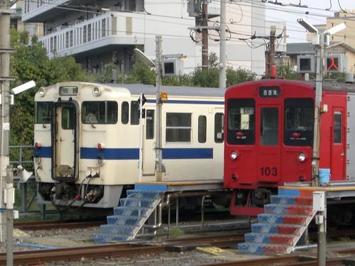 キハ47形と103系/Kiha 47 and 103 series