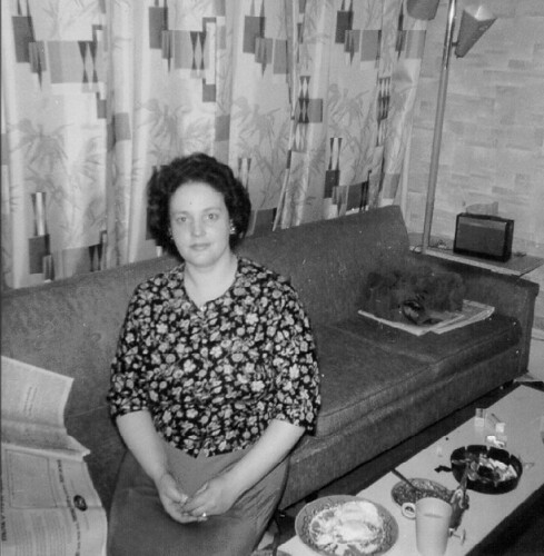 Mom 1958 Living Room Brooklyn NYC
