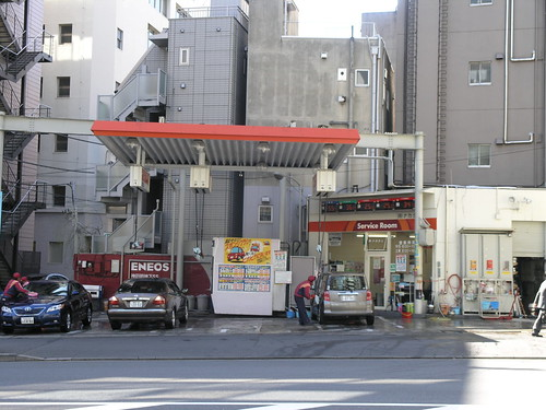 The only gas station I saw INSIDE Tokyo