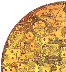 South-east corner of the mappa mundi Borgia (petrus.agricola) Tags: rome highresolution worldmap mapamundi borgia mappemonde mappamundi weltkarte mappamondo imagomundi bibliotecaapostolicavaticana mappamondoborgiano tavoladivelletri