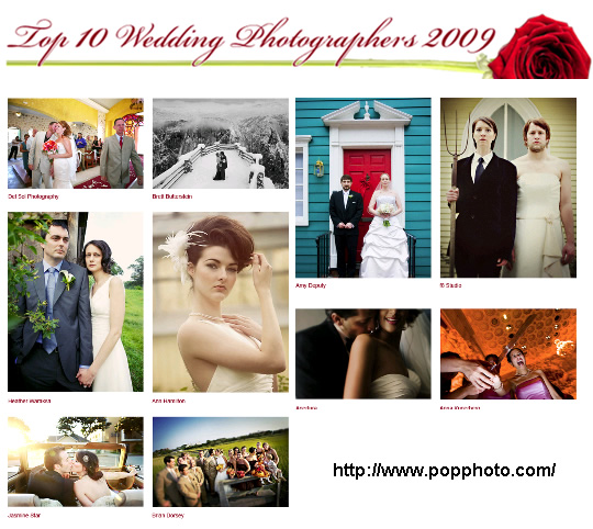 Top 10 Wedding Photographers of 2009