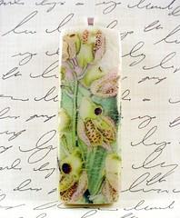 Vintage Wild Orchid Illustration Pendant 2