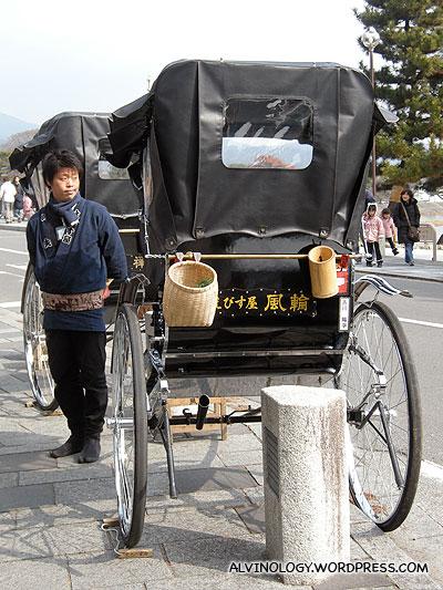 Rickshaws for hire