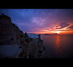 Just Another Sunrise (gabrielescotto) Tags: sea sky sun art sunrise raw nuvole mare alba cielo jail sole procida hdr 10mm carcere sigma1020 nikond80 terramurata gabrielescotto veesuvio