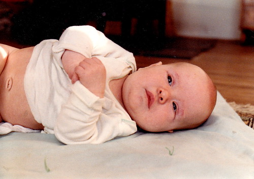 Me, tiny baby