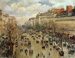 El boulevard de Montmartre de Paris (1893,Camille Pissarro)