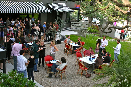 Mingling in the Courtyard