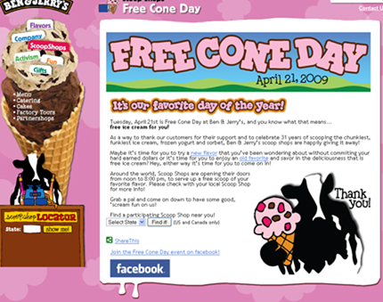 A Delicious DIFF: Free Cone Day at Ben & Jerry's | Former Quicken ...