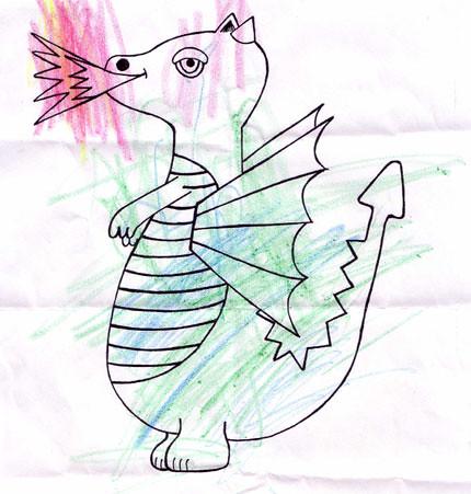 dibuix drac pau