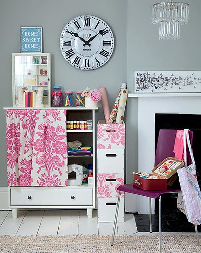 craft storage corner  by Joyful Lova.